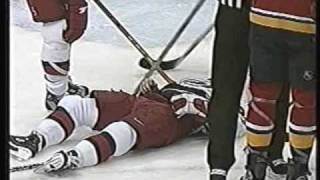 Goon moment: Worrell elbows Gelinas silly