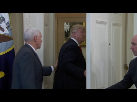 Trump leaves without signing executive orders