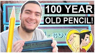 One of Doodle Date's most viewed videos: DRAWING with 100 YEAR OLD PENCILS!