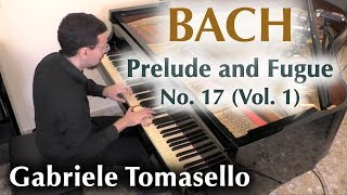 BACH Prelude and Fugue No. 17 in A flat major, BWV 862 from WTC I Gabriele Tomasello
