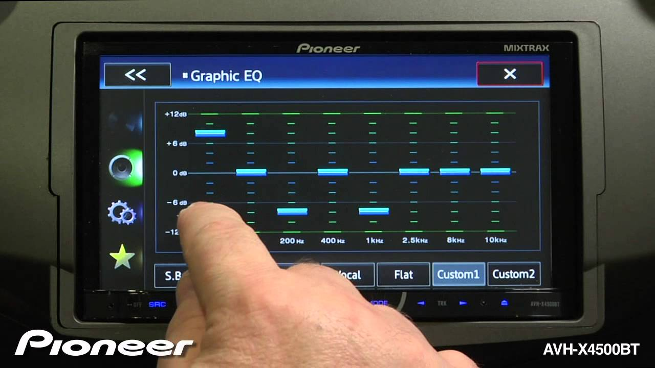 How To - AVH-X4500BT - Change the Equalizer Settings