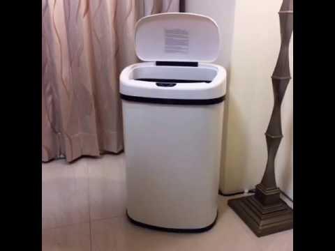 FDW【TC135】免運現貨*超大容量50L自動電子紅外感應不鏽鋼垃圾桶/免腳踩/智能感應/客廳廚房餐廳