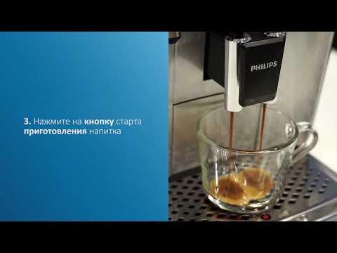 Приготовление напитка из молотого кофе в автоматических кофемашинах Philips и Saeco