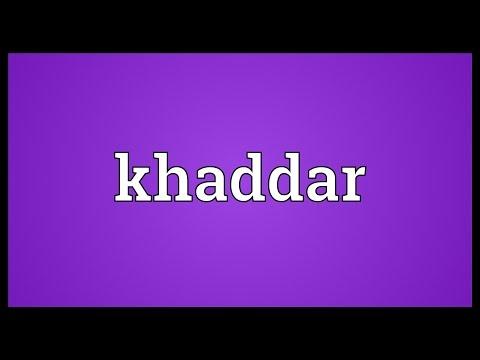 Header of khaddar