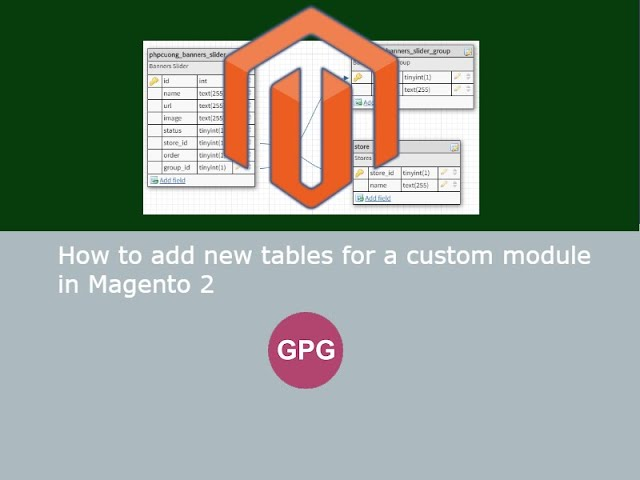 How to add new tables for a custom module in Magento 2