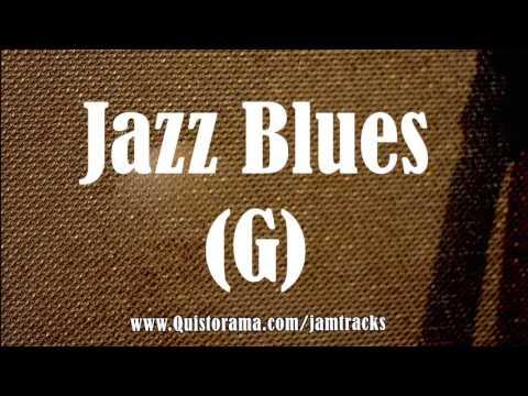 Jazz Blues Guitar Backing Track (G)