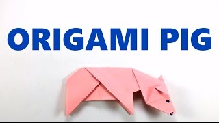 How to Make Origami Pig - Easy Origami Tutorial - DIY - Paper Folding Pig - Paper   Craft