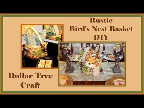 Rustic Birdnest Basket Decor