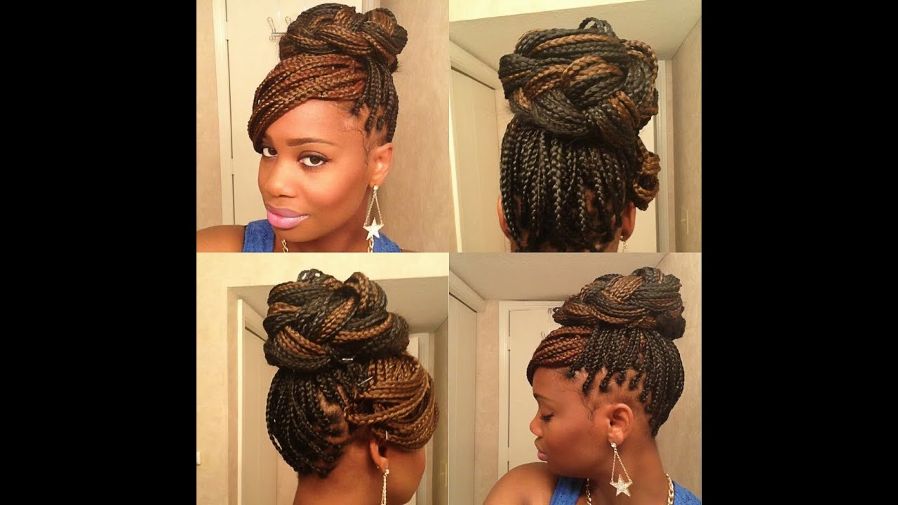 3 Easy Styles For Box Braids Youtube