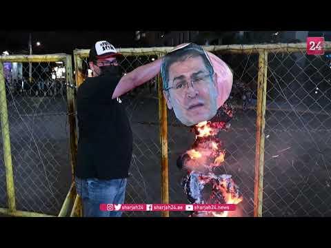 Hundreds protest in Honduras calling for resignation of president