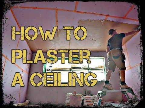 How To Plaster A Ceiling with Plastering For Beginners