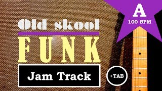 Old Skool Funk Guitar Backing Jam Track (A)