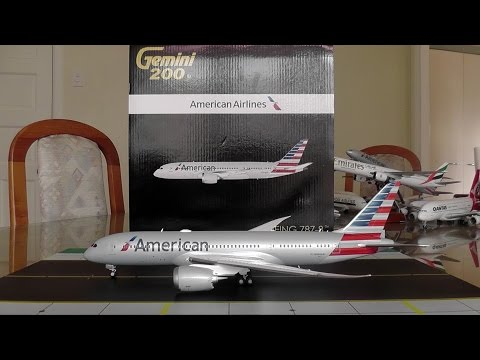 Gemini Jets 1:200 American Airlines 787-8 Unboxing And Review