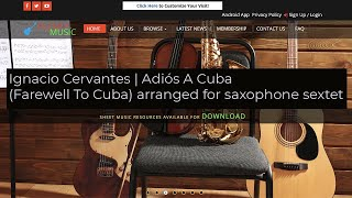 Cervantes I.   Adiós A Cuba (Farewell to Cuba) arranged for saxophone sextet