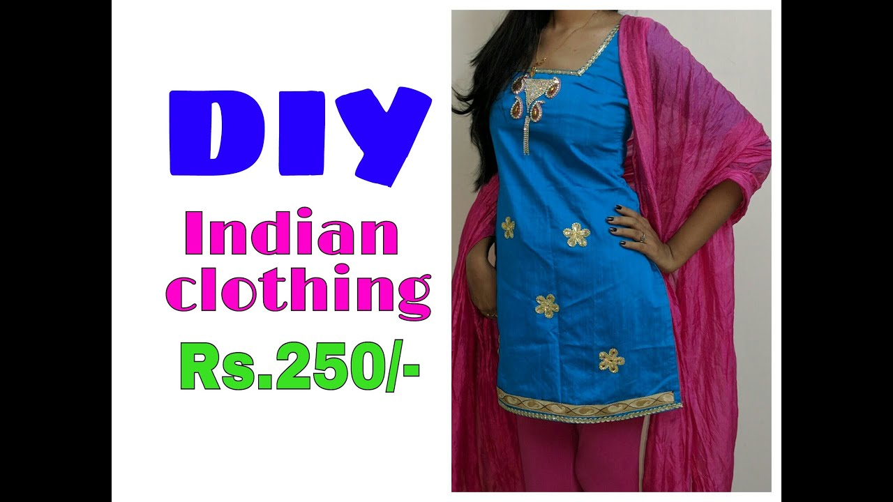 Diy indian clothing rs250make your own dress youtube solutioingenieria Image collections