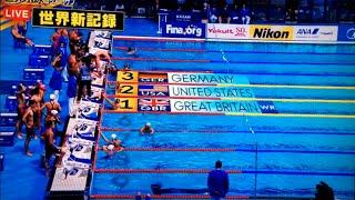 世界水泳 4×100m 男女混合 決勝