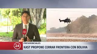 Kast propone cerrar frontera con Bolivia para combatir el narcotráfico