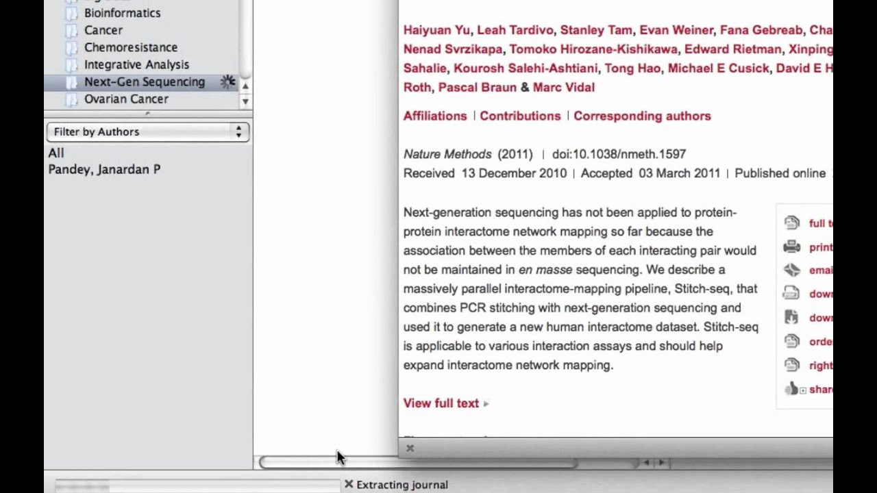 Quick tip: Drag and drop a PDF link into Mendeley Desktop for easy import