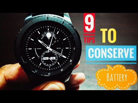 9 tips to conserve battery on Samsung Gear S3 Frontier!