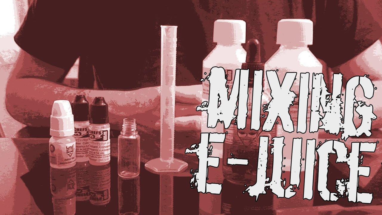 E-Juice Mixing & Sharing Recipes - YouTube