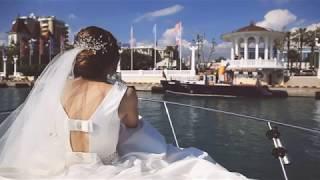 Красивая свадьба в Сочи. Прогулка на яхте. Юрий и Гаяна. Свадьба на море.