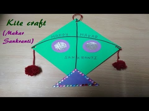 How To Make Paper Kite Makar Sankranti Special Easy Craft Youtube
