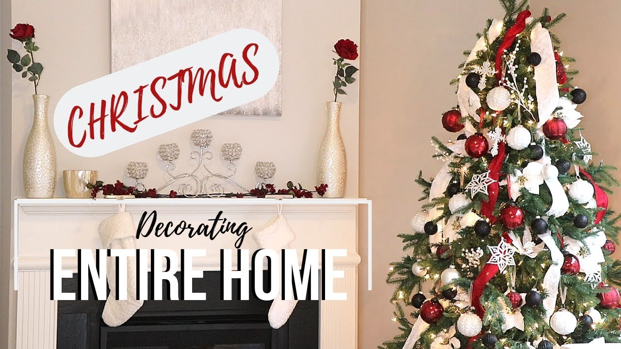 Decorating Entire Home For Christmas Easy Simple Christmas Decor