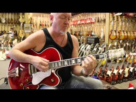"Guitar Close Up - Gibson Byrdland Custom ""Crimson"" Edition $6795"