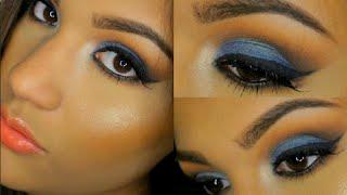 Maquillaje Azul Para Noche/Prom | AbrilDoesMakeup ♡