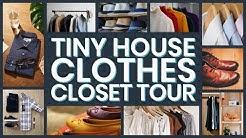 Tiny House Clothes Closet Tour