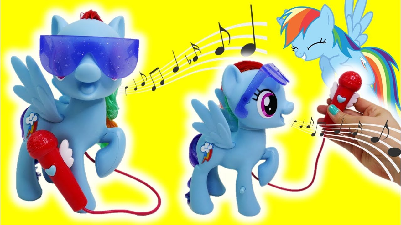 Singing Rainbow Dash Toy Review My Little Pony The Movie Songs Youtube