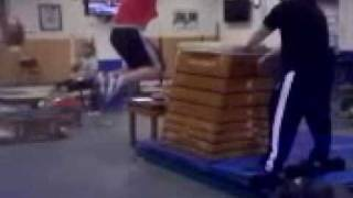 Norik Vardanian jumping over 5ft box