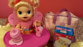 Baby Alive my Baby All Gone feeding and new Highchair