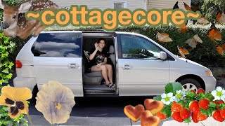 I (tried to) make my minivan a cottagecore minihome
