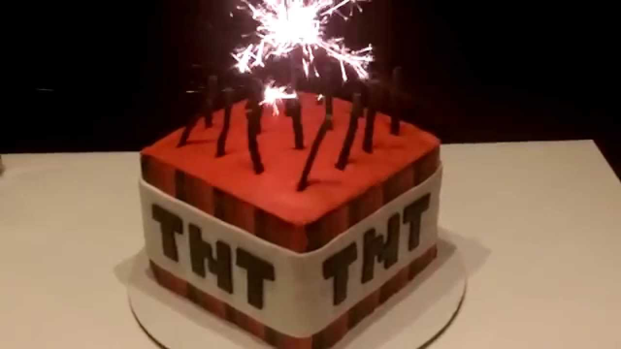 Minecraft Tnt Cake Youtube