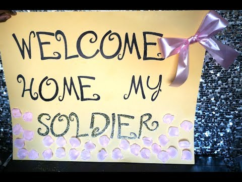 DIY: Welcome Home Poster || Quick And Easy