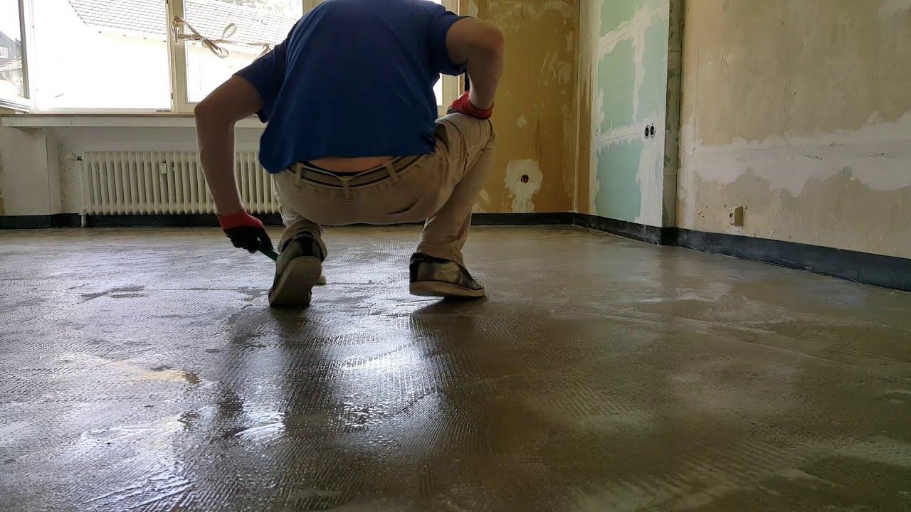 Fußboden Im Haus ~ Haus renovieren #31 fußboden grundieren mit wilm youtube
