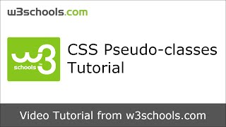 w3schools css pseudo classes tutorial