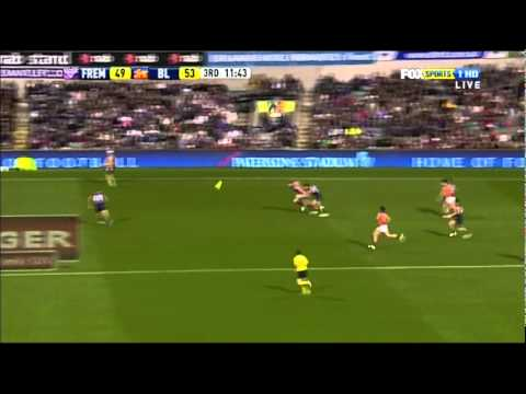 Pearce Hanley - a bit of gaelic football - AFL 2011, Rd 14