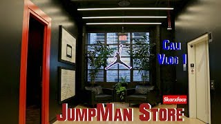 Tour of the new Jordan Jumpman Store in Downtown L.A! California Vlog Part 1