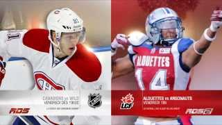 Confrontation RDS / RDS2 : Canadiens ou Alouettes ?