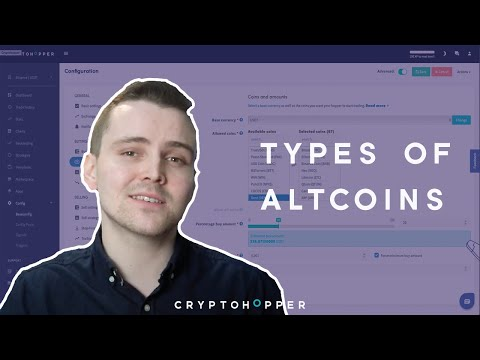 Types of Altcoins – Cryptohopper