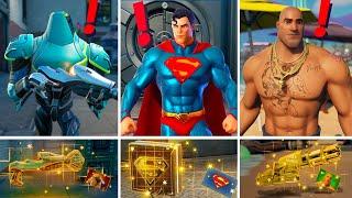 NEW Season 7 ALL BOSSES, MYTHIC WEAPONS, KEYCARD VAULT LOCATIONS! (Boss Zyg, Beach Brutus,Superman)