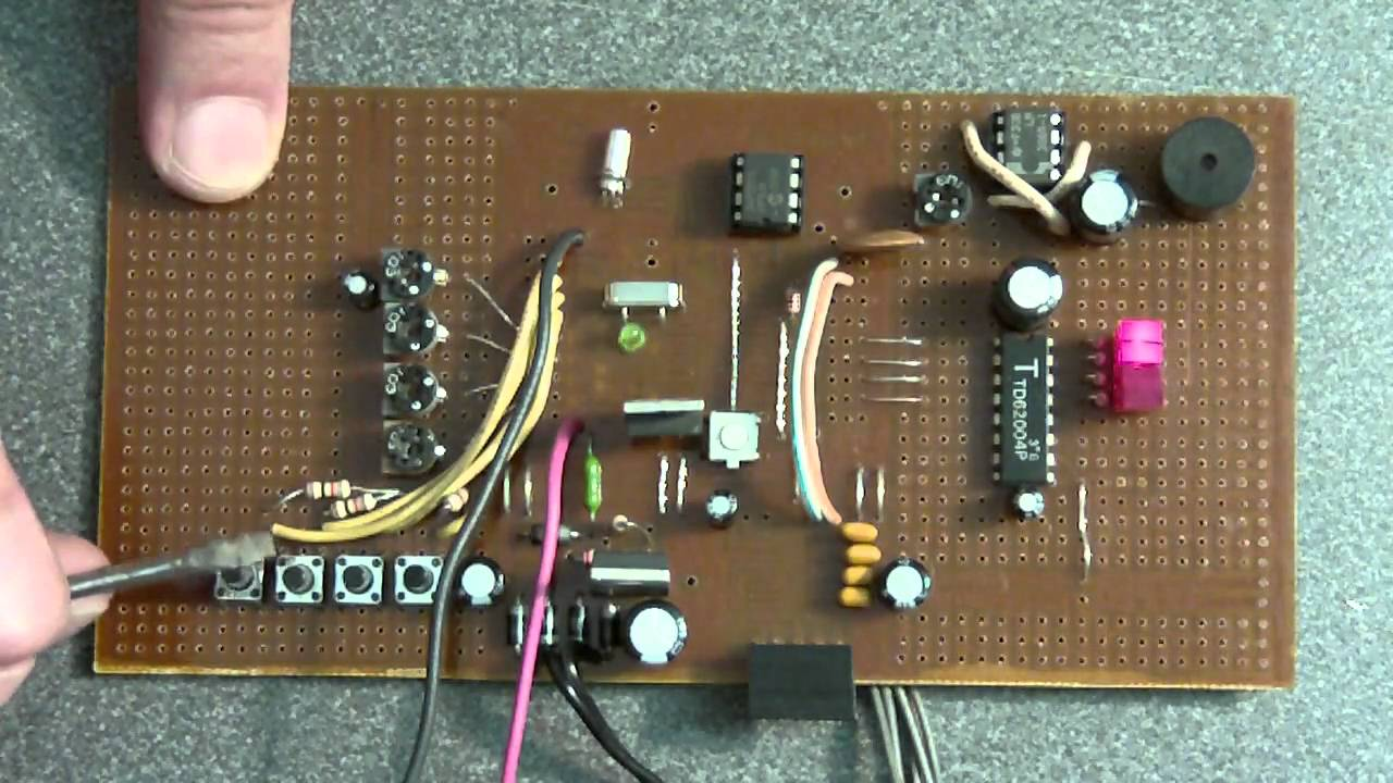 hight resolution of home made plc computer prototype board sbc cpu risc pic16f876 analog digital i o youtube