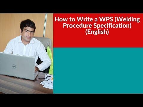 wps welding how to write welding procedure in English
