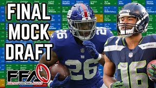 My Final Mock Draft - 2019 Fantasy Football Advice