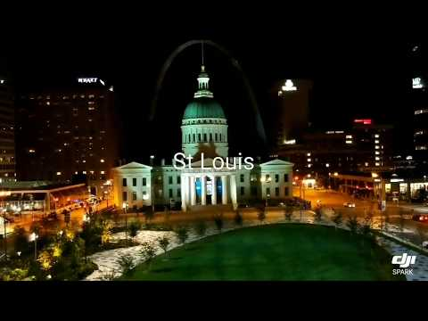 DJI Spark Flight #2 Downtown St Louis Gateway Arch and Old Courthouse