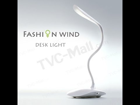 Fashion Adjustable Wind LED Desk Light Reading Lamp Night Lighting - TVC Mall