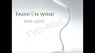 Fashion Adjustable Wind Led Desk Light Reading Lamp Night Lighting - Tvc Mall