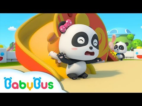 Oops, Baby Panda's Knocked down   Safety Tips in a Playground   Kids Safety Tips   BabyBus
